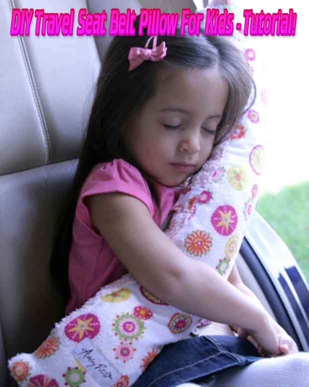 Diy Travel Seat Belt Pillow For Kids Tutorial Lil Moo
