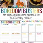 50 Preschool Boredom Busters + Printable Play Planner