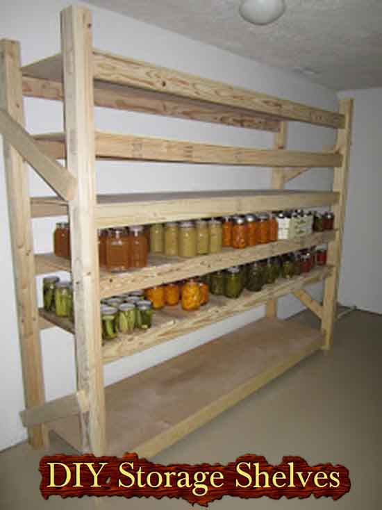 Build Your Own Canned Food Storage Shelves. Photo Credit To  Simplyresourceful.blogspot.co.uk