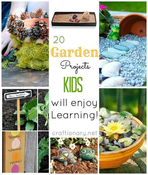 20 Fun Gardening Projects to do with kids - Lil Moo Creations