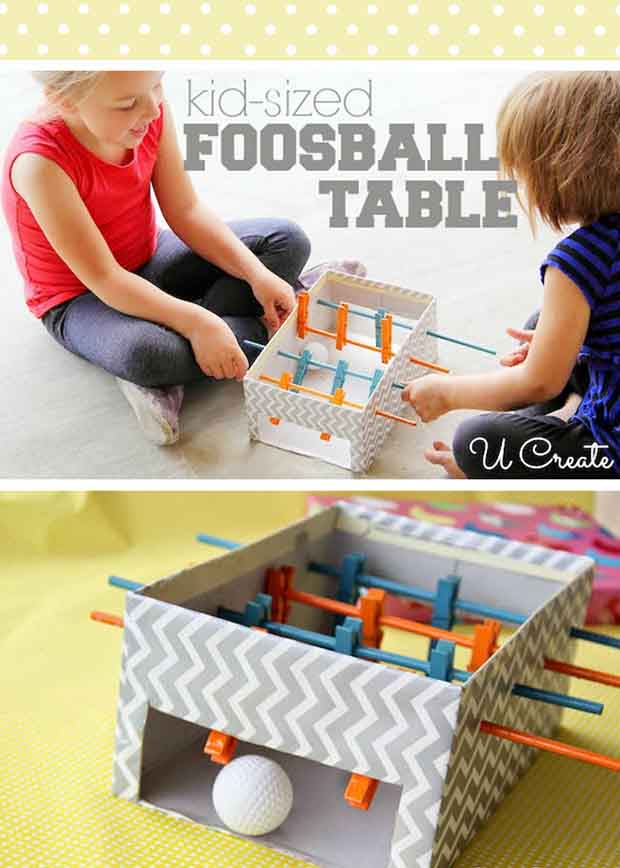 DIY Mini Foosball Table for Kids photo