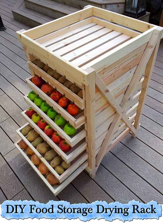DIY Food Storage Drying Rack - Lil Moo Creations