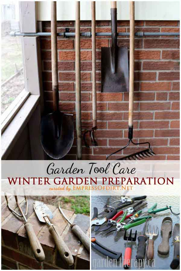 Winter garden prep tool care lil moo creations for Winter garden maintenance