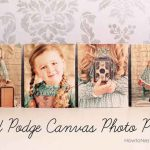Mod Podge Canvas Photo Prints
