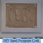 DIY Sand Footprint Craft