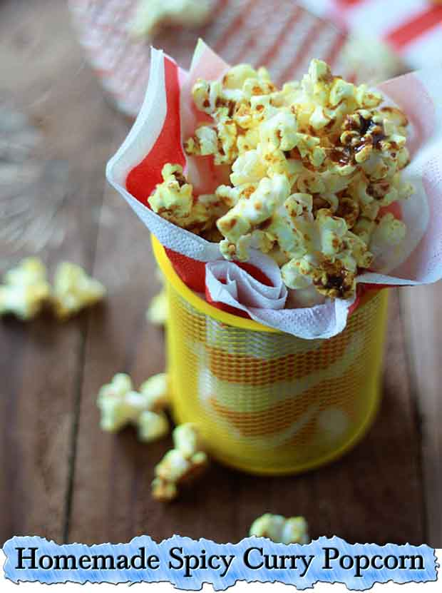 Homemade Spicy Curry Popcorn - Lil Moo Creations