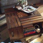 Ingenious DIY wine crate table
