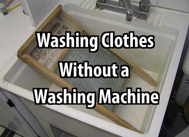 how to wash clothes without a washing machine