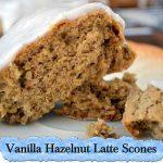 Vanilla Hazelnut Latte Scones