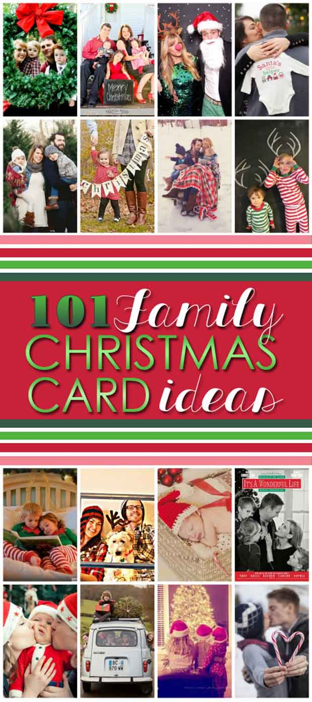 101 Family Christmas Card Ideas - Lil Moo Creations