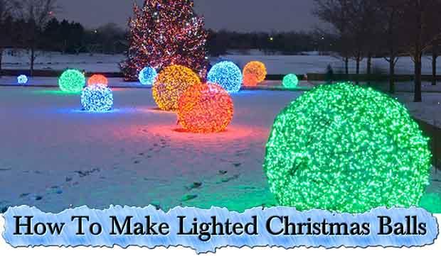 How To Make Lighted Christmas Balls - Lil Moo Creations