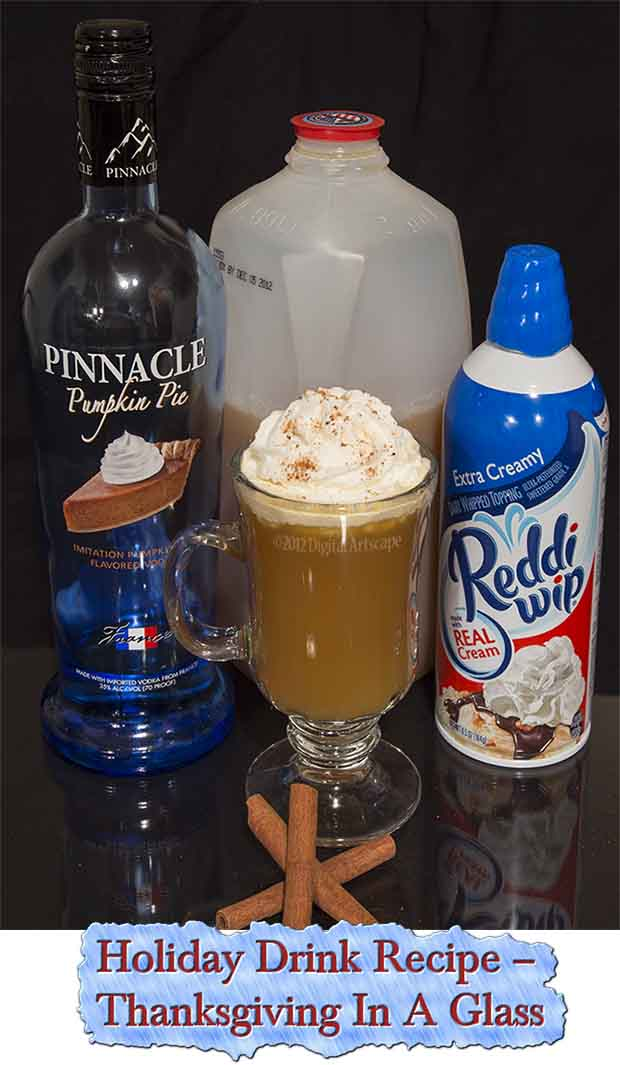 Holiday drink recipe thanksgiving in a glass lil moo for Thanksgiving drink recipes with alcoholic