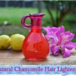 Natural Chamomile Hair Lightener