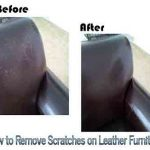 How to Remove Scratches on Leather Furniture