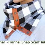 Leather + Flannel Snap Scarf Tutorial