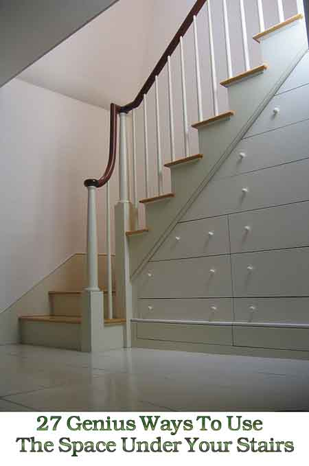 27 genius ways to use the space under your stairs lil for Using space under stairs