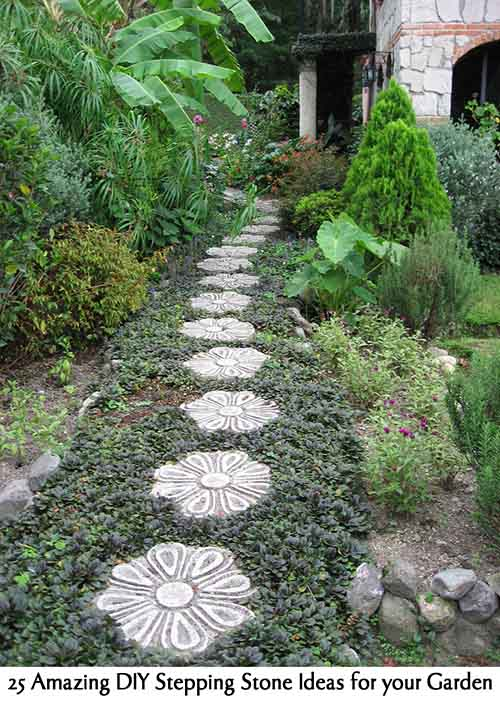 Garden Stepping Stones Ideas create privacy in your yard 25 Amazing Diy Stepping Stone Ideas For Your Garden