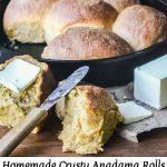 Homemade Crusty Anadama Rolls