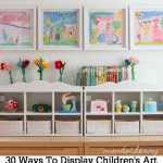 30 Ways To Display Children's Art