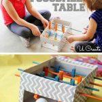 DIY Mini Foosball Table For Kids