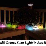 DIY Multi-Colored Solar Lights in Jars Tutorial