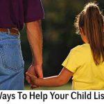 5 Ways To Help Your Child Listen