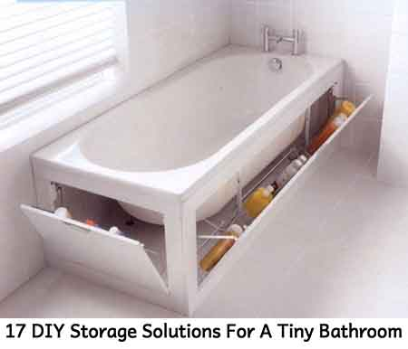 17 diy storage solutions for a tiny bathroom - lil moo creations