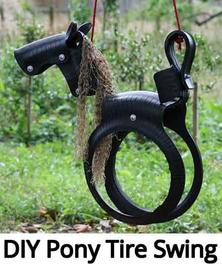 diy pony tire swing lil moo creations