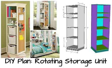DIY Plan: Rotating Storage Unit