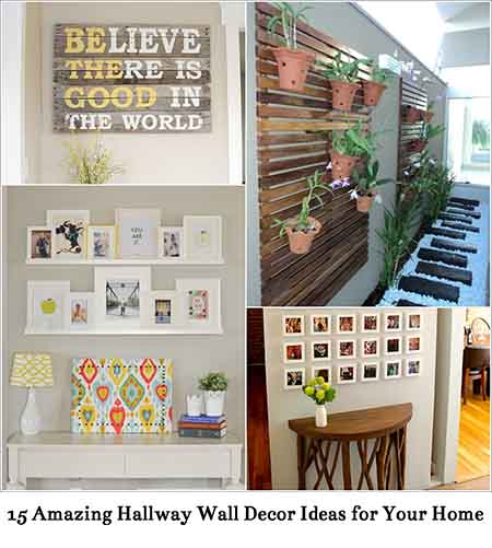Creative Wall Decoration For Hallway: 15 Amazing Hallway Wall Decor Ideas For Your Home