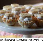 Vegan Banana Cream Pie Mini Tarts