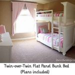 Twin-over-Twin Flat Panel Bunk Bed (Plans included)