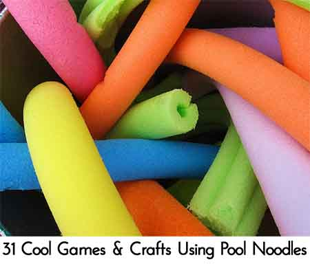 31 Cool Games Crafts Using Pool Noodles Lil Moo Creations