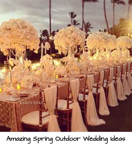 Amazing Spring Outdoor Wedding Ideas - Lil Moo Creations
