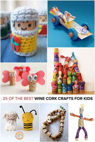 25 of the best wine cork crafts for kids lil moo creations for Kids crafts with wine corks