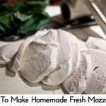 How To Make Homemade Fresh Mozzarella