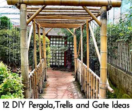 12 diy pergolatrellis and gate ideas lil moo creations
