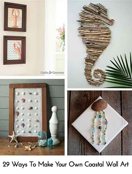 29 Ways To Make Your Own Coastal Wall Art - Lil Moo Creations
