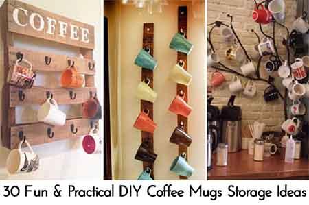 ... Coffee Mugs Storage Ideas. Photo Credit: Woohome