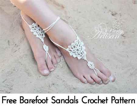 Free Barefoot Sandals Crochet Pattern Lil Moo Creations
