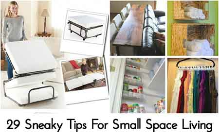 Living Spaces Credit : 29 Sneaky Tips For Small Space Living - Lil Moo Creations