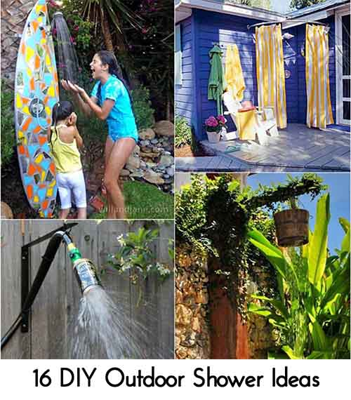 16 DIY Outdoor Shower Ideas. Photo Credit: Apieceofrainbow