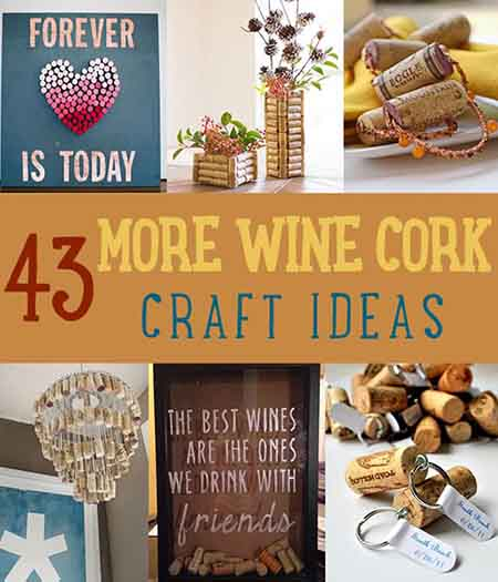 43 more diy wine cork crafts ideas lil moo creations for Wine cork crafts diy