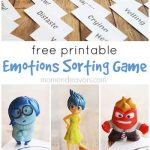 Printable Emotions Sorting Game inspired by Disney-Pixar's Inside Out