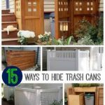 15 Ways To Hide Trash Cans