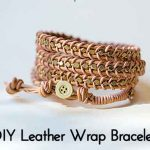 DIY Leather Wrap Bracelet