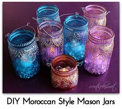 DIY Moroccan Style Mason Jars