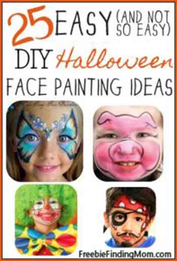 Easy DIY Halloween Face Painting Ideas For Kids Image Credit Freebiefindingmom