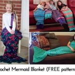 Crochet Mermaid Blanket (FREE patterns!)