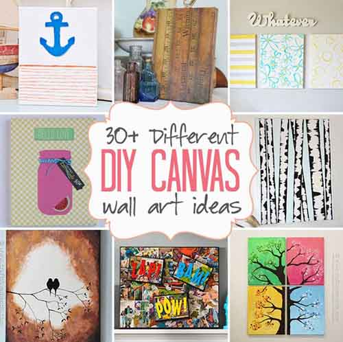 Diy canvas wall art ideas 30 canvas tutorials lil moo Diy canvas art